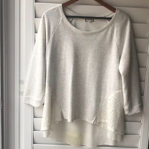 Comfy heathered high low sweater